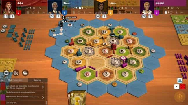 Settlers Of Catan is listed (or ranked) 4 on the list The 20 Best Board Games To Play On Tabletop Simulator Right Now
