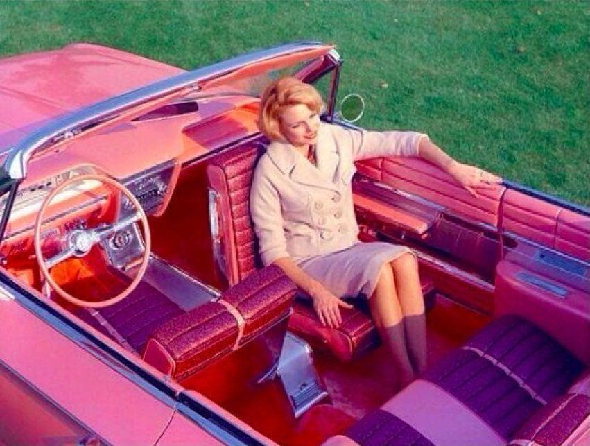 Looking Back On It on Random Vintage Color Photos Of People With Classic Cars