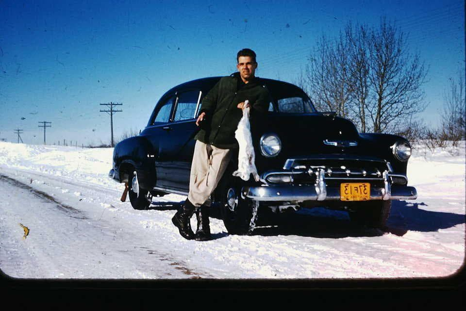 Snow Day on Random Vintage Color Photos Of People With Classic Cars