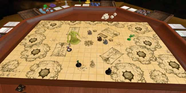 Dungeons and Dragons is listed (or ranked) 1 on the list The 20 Best Board Games To Play On Tabletop Simulator Right Now