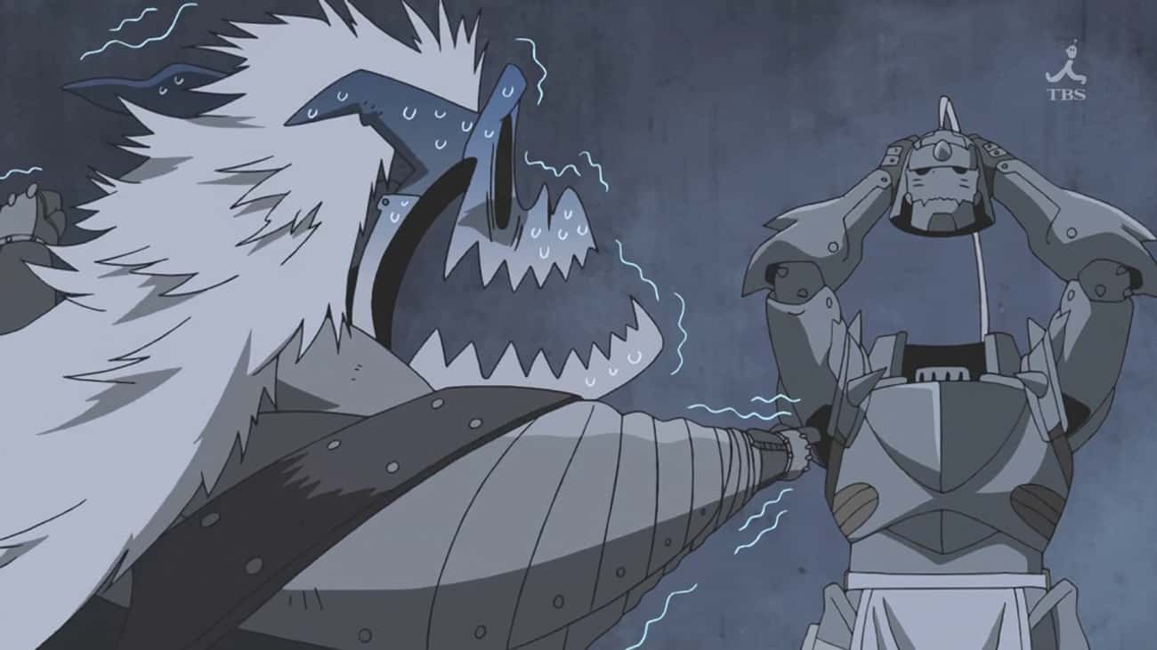Barry The Chopper - 'FMA: Brot is listed (or ranked) 3 on the list The 14 Funniest Anime Villains of All Time