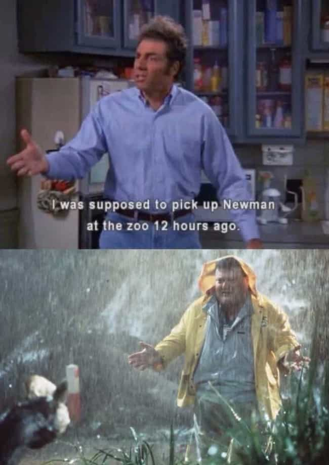 Poor Newman is listed (or ranked) 2 on the list 27 Memes About 'Jurassic Park', Still The Only Good Movie Ever Made