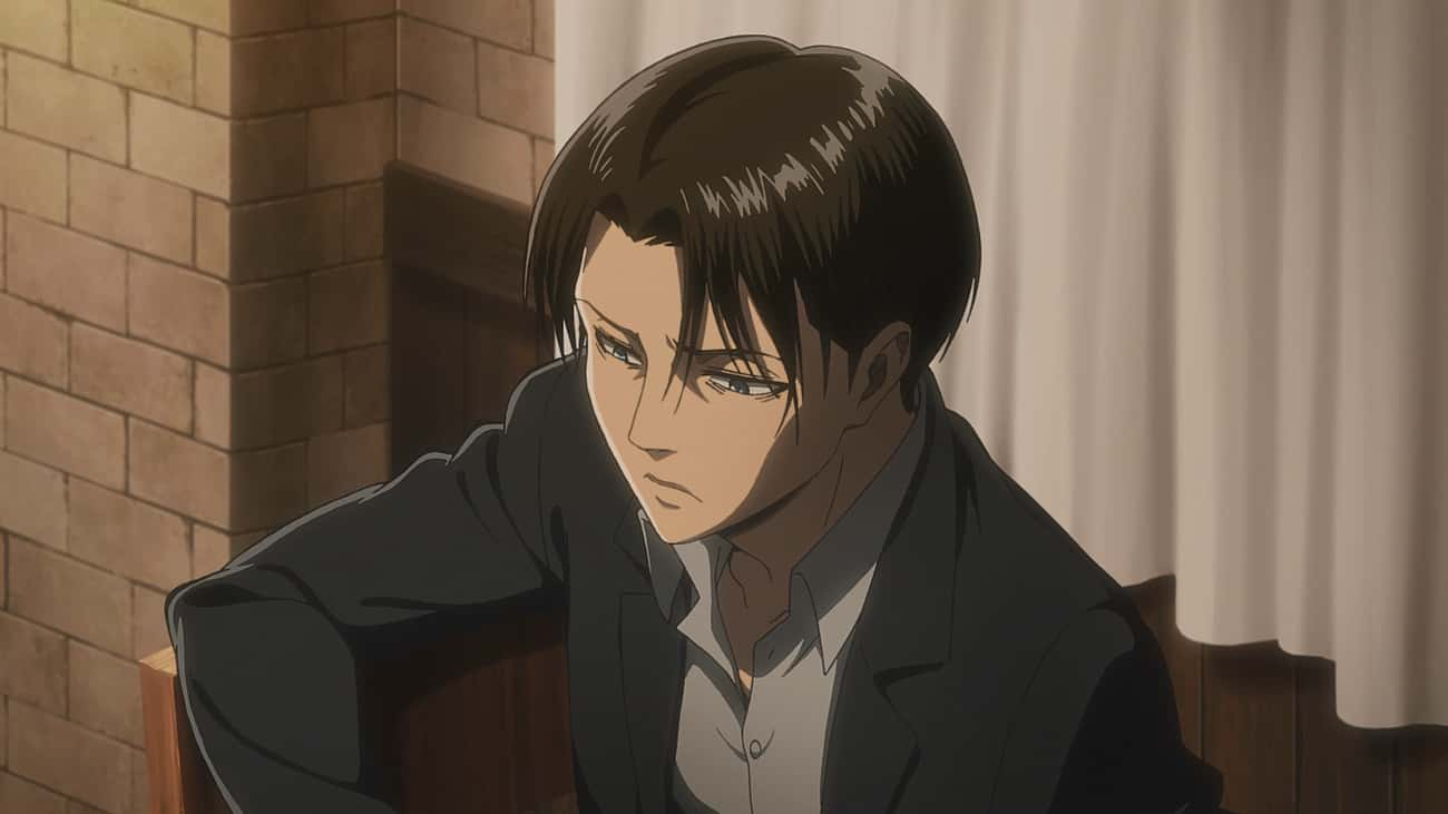 Levi Has Insomnia is listed (or ranked) 1 on the list 20 Things You Didn't Know About 'Attack on Titan' Characters