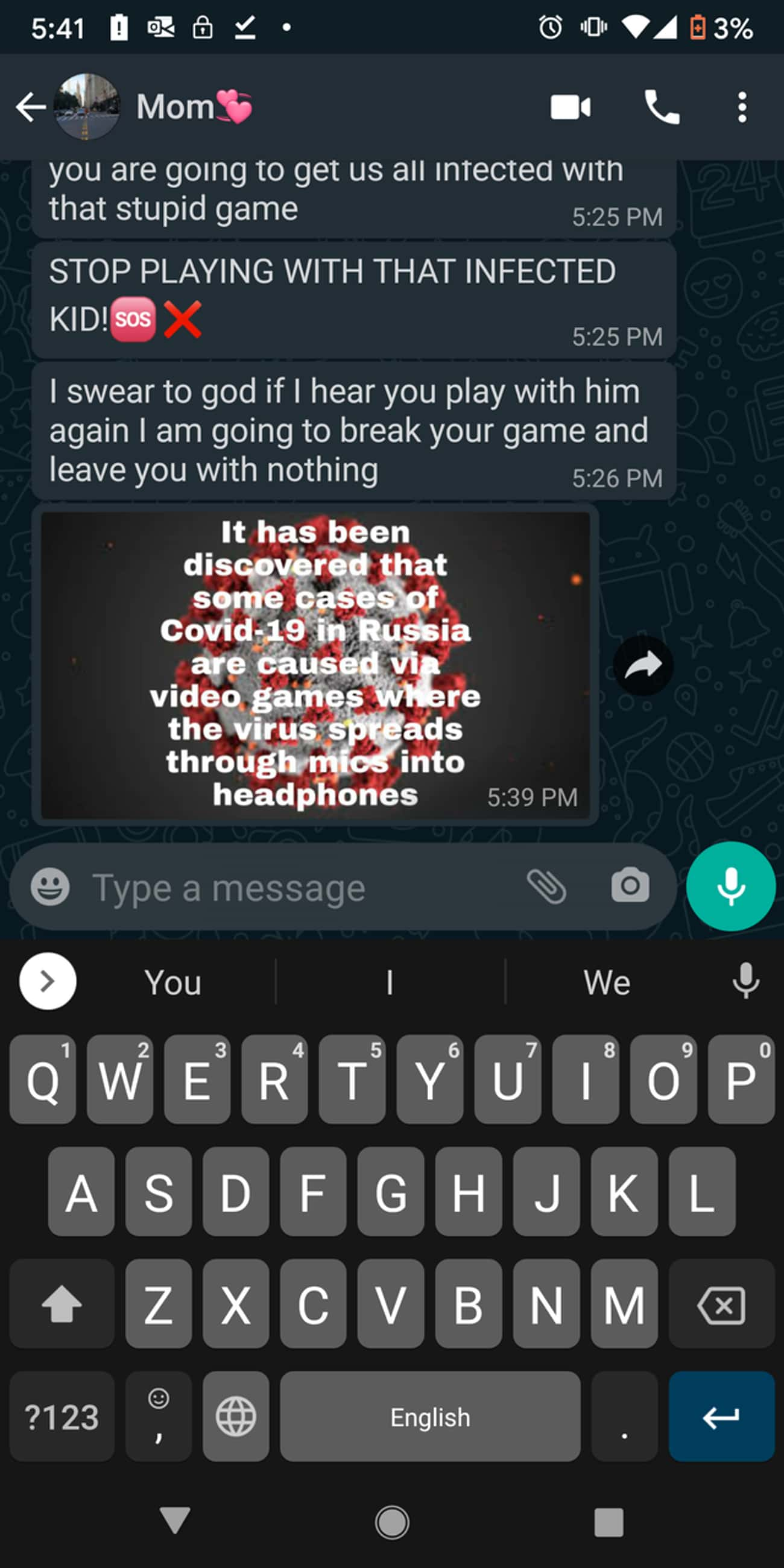 """""""I Am Going To Break Your Game is listed (or ranked) 2 on the list 17 Insane Parents Who Are Making This Pandemic About Themselves"""