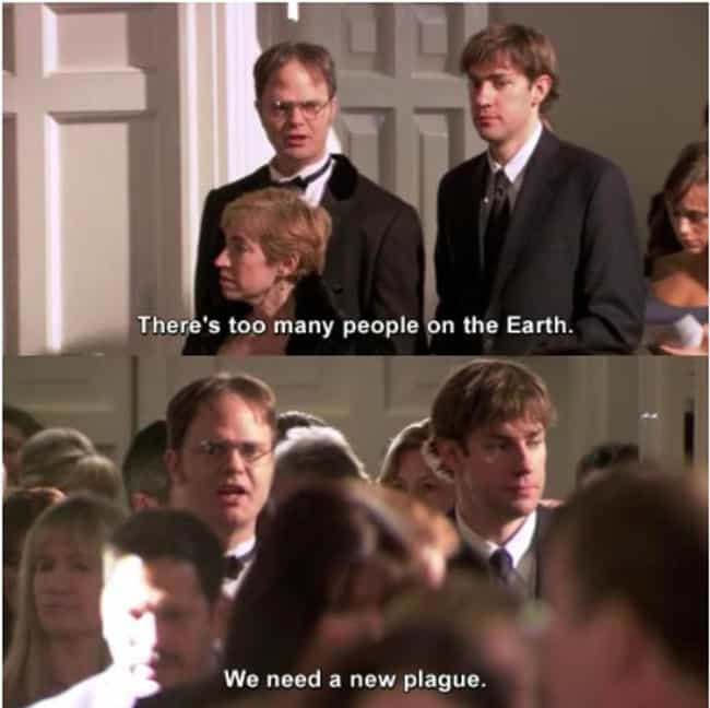 Dwight, What Did You Do?... is listed (or ranked) 4 on the list The Office Memes That Imagine Quarantine At Dunder Mifflin