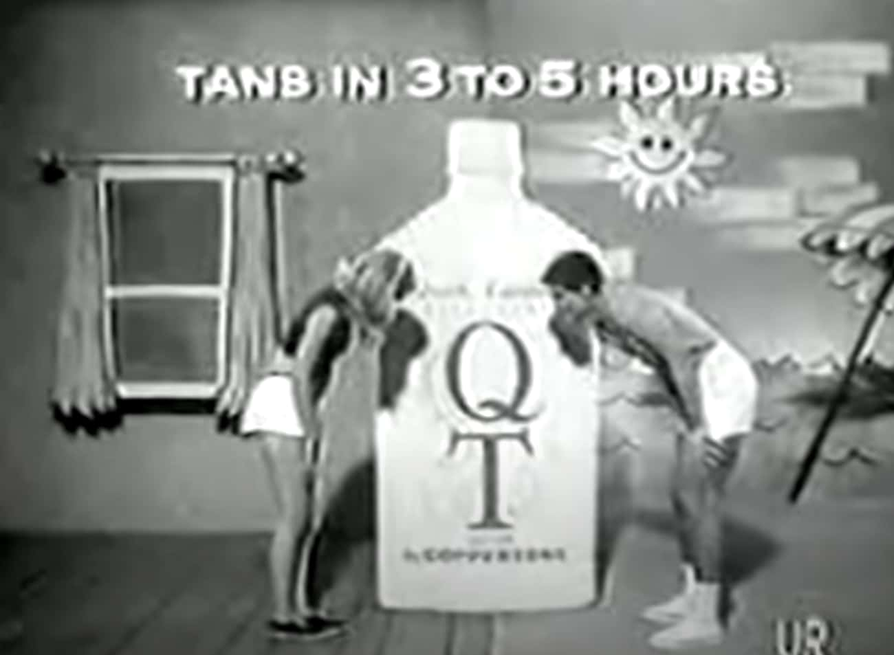 1960: Coppertone - 'Quick Tan  is listed (or ranked) 1 on the list What Was The Most Popular Commercial The Year You Were Born?