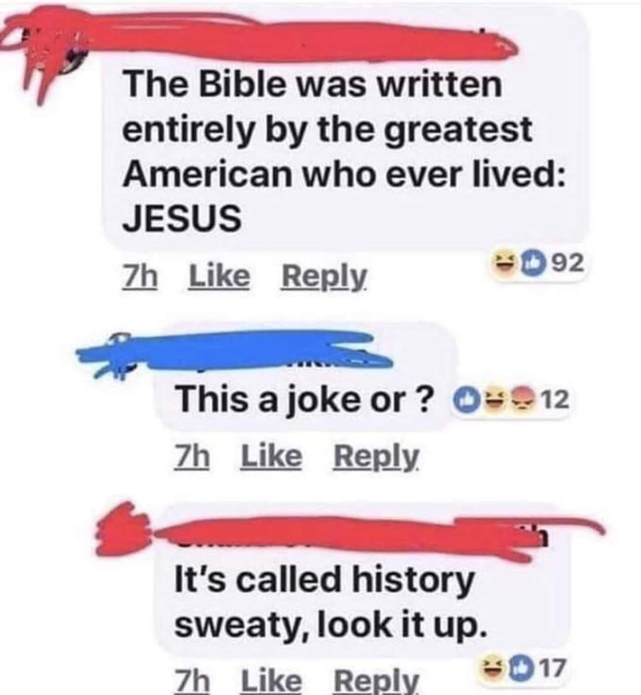 Sweaty Commenter Doesn't Know  is listed (or ranked) 3 on the list Embarrassing Face Palms From People Who Don't Know Anything About US History