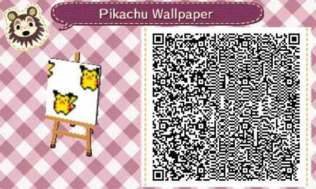 Pikachu Wallpaper is listed (or ranked) 4 on the list 20 Custom Wallpaper Designs To Scan And Use In 'Animal Crossing: New Horizons'