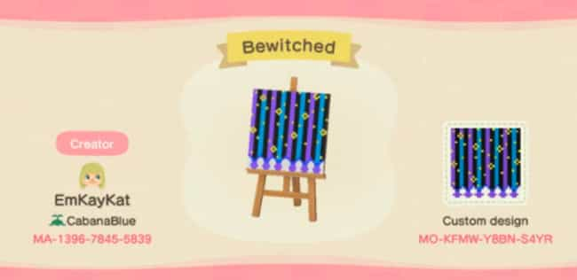 Bewtichin' is listed (or ranked) 2 on the list 20 Custom Wallpaper Designs To Scan And Use In 'Animal Crossing: New Horizons'
