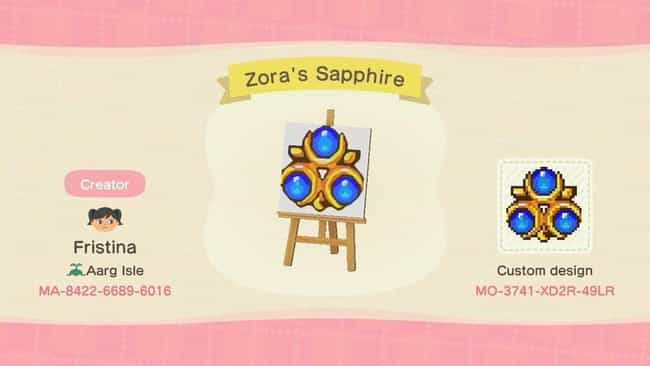 Zora's Sapphire is listed (or ranked) 2 on the list 20 Zelda-Inspired Costumes And Codes For 'Animal Crossing: New Horizons'