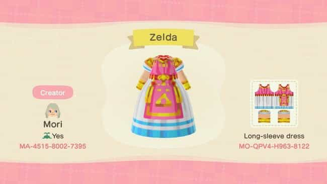 Zelda's Outfit From 'A L... is listed (or ranked) 1 on the list 20 Zelda-Inspired Costumes And Codes For 'Animal Crossing: New Horizons'