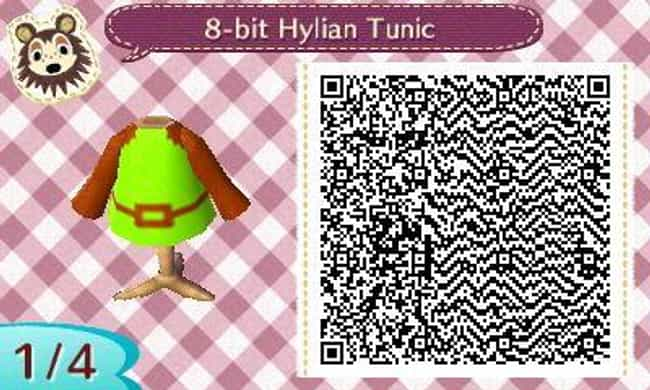 Link's 8-bit Tunic is listed (or ranked) 3 on the list 20 Zelda-Inspired Costumes And Codes For 'Animal Crossing: New Horizons'
