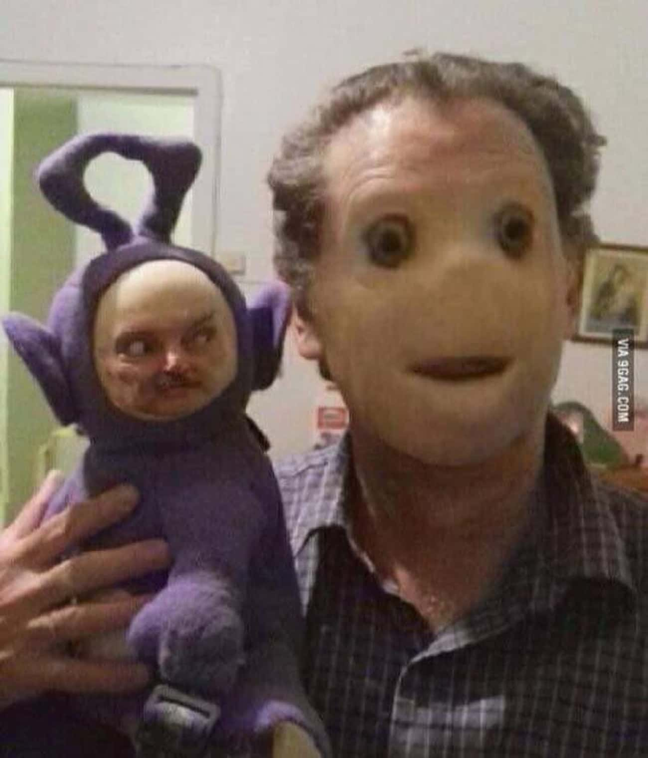 Terror Tubby is listed (or ranked) 1 on the list 25 Horrifying Face Swaps That Will Fuel Your Nightmares