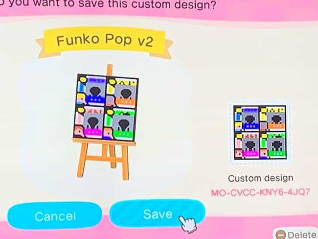 Funko Pop Design is listed (or ranked) 1 on the list 20 Custom Wallpaper Designs To Scan And Use In 'Animal Crossing: New Horizons'