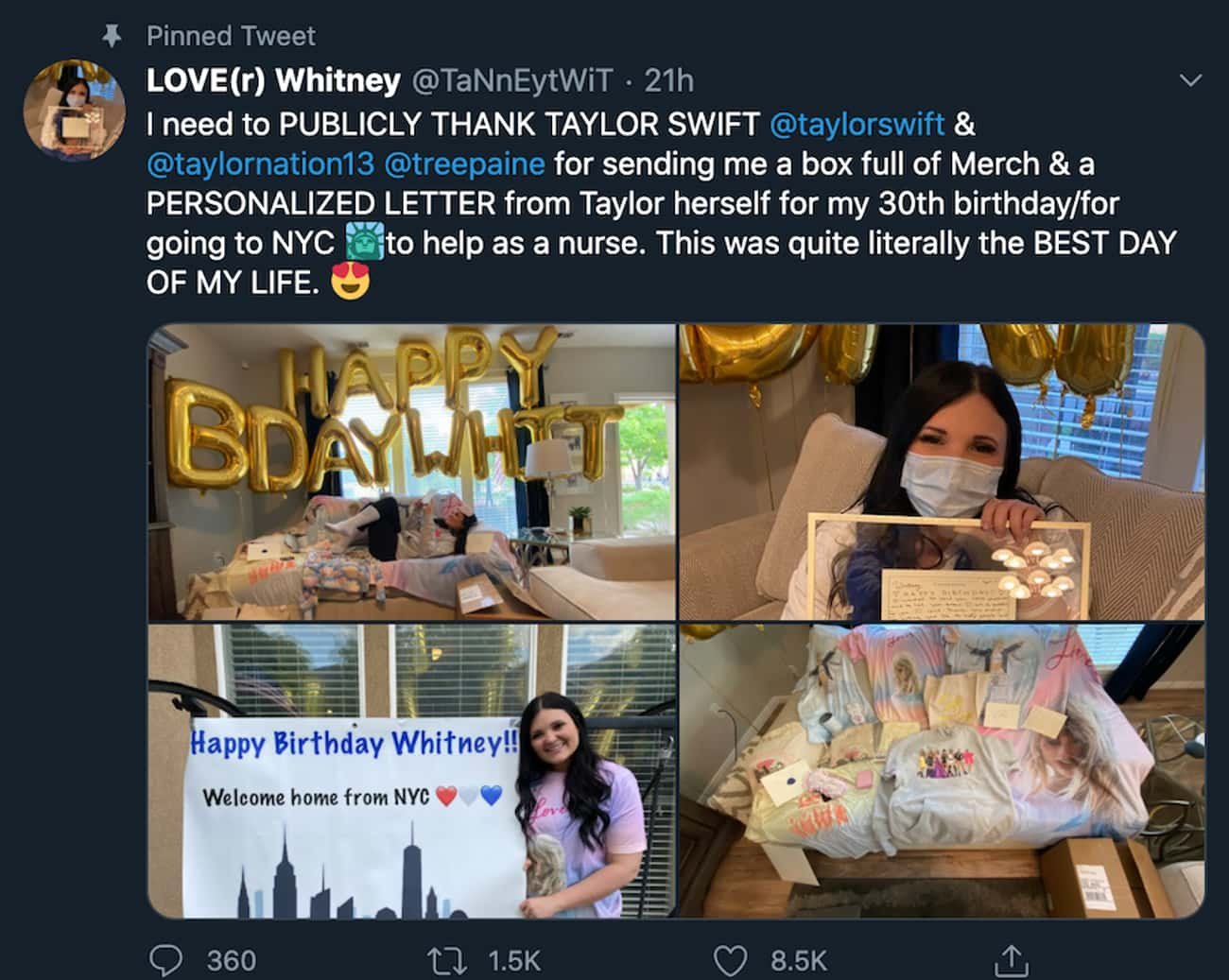 She Thanked An NYC Nurse With  is listed (or ranked) 1 on the list 31 Times Taylor Swift Was The Best