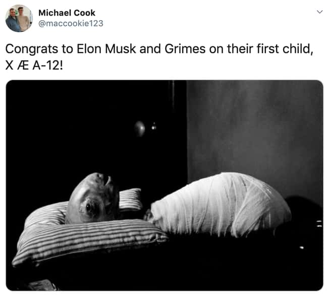 Eraserhead is listed (or ranked) 16 on the list 32 Funny Memes About Elon Musk And Grimes Possibly Naming Their Baby 'XÆA-12'