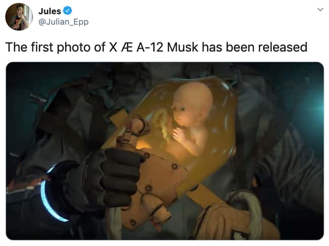 Cute! is listed (or ranked) 21 on the list 32 Funny Memes About Elon Musk And Grimes Possibly Naming Their Baby 'XÆA-12'