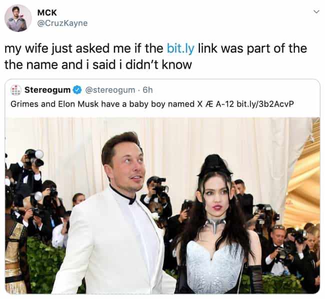An Honest Mistake is listed (or ranked) 1 on the list 32 Funny Memes About Elon Musk And Grimes Possibly Naming Their Baby 'XÆA-12'