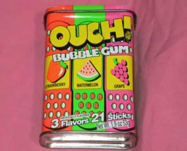 Hubba Bubba: Ouch! Bubbl... is listed (or ranked) 2 on the list Vintage Snack Logos That Are So '90s It Hurts
