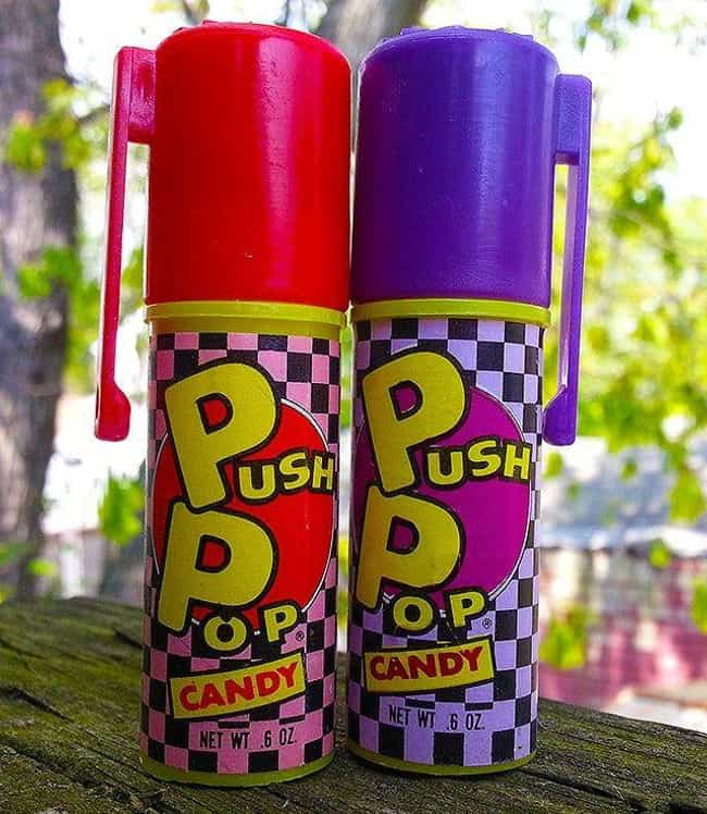 Push Pop: Cherry is listed (or ranked) 1 on the list Vintage Snack Logos That Are So '90s It Hurts
