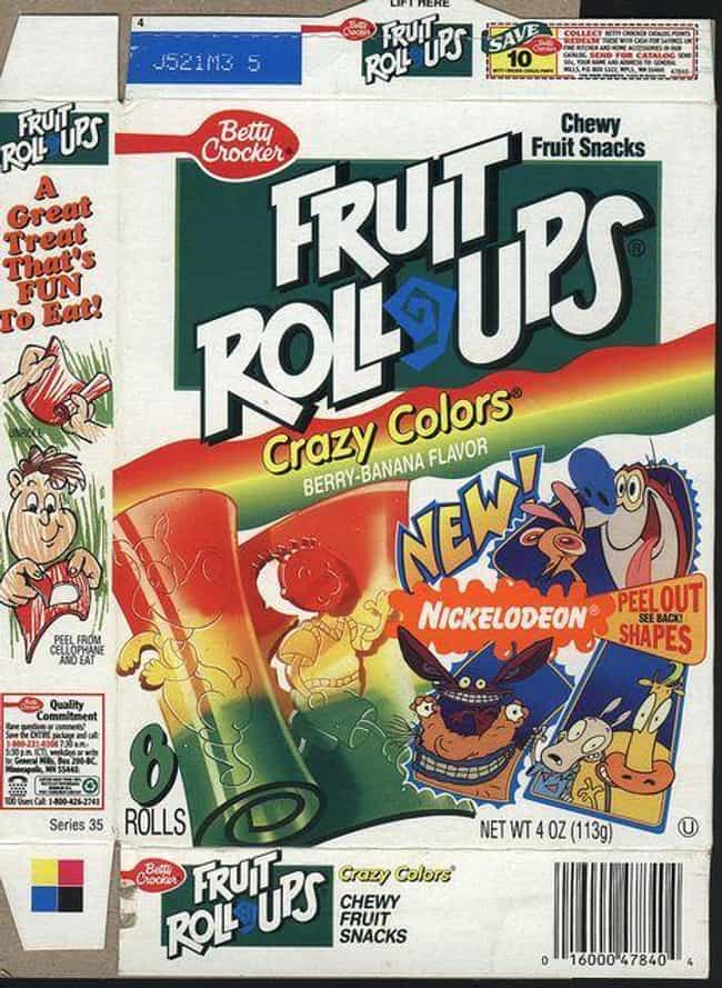 Fruit Roll Ups: Peel Out... is listed (or ranked) 3 on the list Vintage Snack Logos That Are So '90s It Hurts