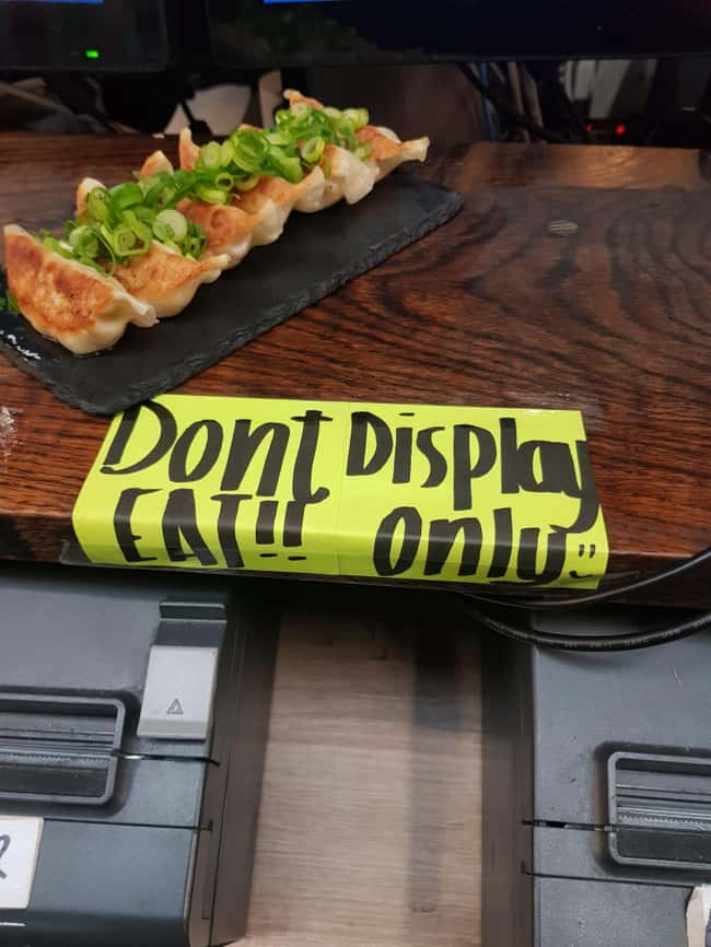 Don't Display Eat Only is listed (or ranked) 22 on the list 32 Hilarious Sign Fails That Made Their Messages Meaningless