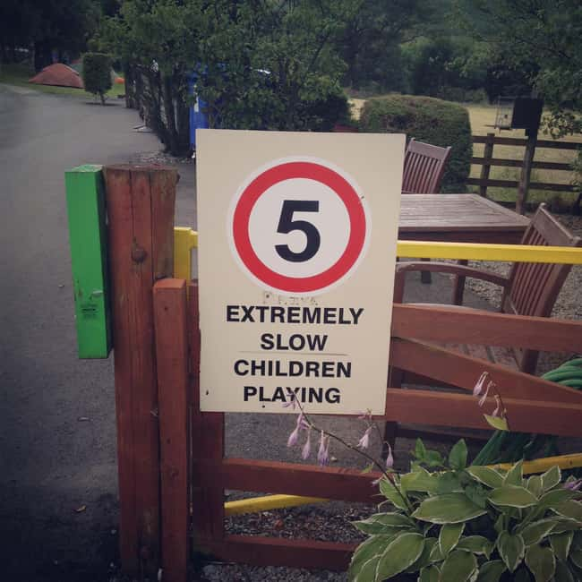 5 Extremely Slow Children Play is listed (or ranked) 8 on the list 32 Hilarious Sign Fails That Made Their Messages Meaningless