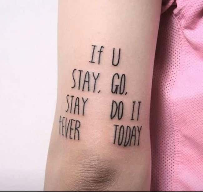 If You Stay Go Stay Do It 4Eve is listed (or ranked) 6 on the list 32 Hilarious Sign Fails That Made Their Messages Meaningless
