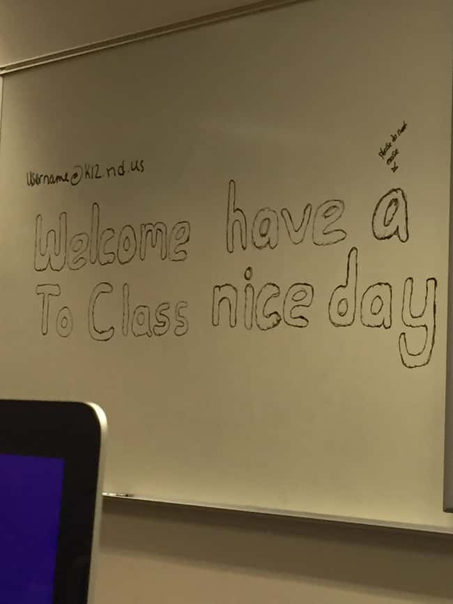 Welcome Have A To Class Nice D is listed (or ranked) 21 on the list 32 Hilarious Sign Fails That Made Their Messages Meaningless