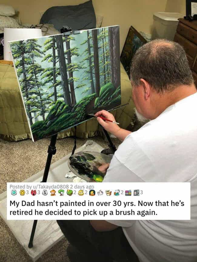 Dad's A Painter is listed (or ranked) 3 on the list 26 Random Photos From This Week That Went Viral