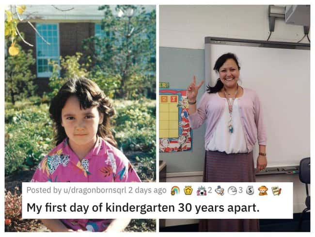Kindergarten But 30 Years Apar is listed (or ranked) 12 on the list 26 Random Photos From This Week That Went Viral