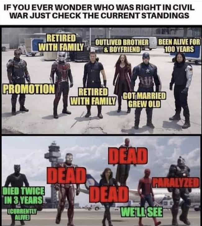 Oh, Dear is listed (or ranked) 3 on the list Hilarious Captain America Memes That Even Bucky Might Laugh At