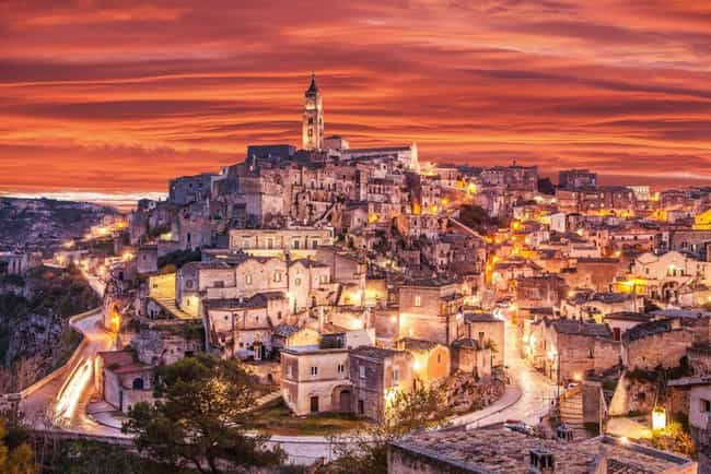 Sassi di Matera, Italy (... is listed (or ranked) 1 on the list The Oldest Houses In The World That Are Somehow Still Standing