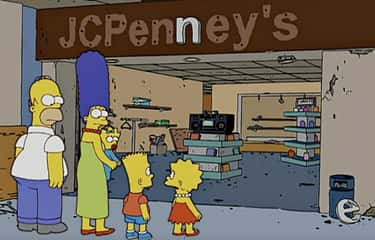 J.C. Penney Co. Files For Bank is listed (or ranked) 1 on the list 29 Simpsons Jokes That Actually Came True