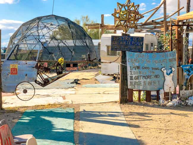 Residents Rely On Each O... is listed (or ranked) 2 on the list Slab City Is An Off-Grid Desert City, And Its Residents Claim It's The Last Free Place In America