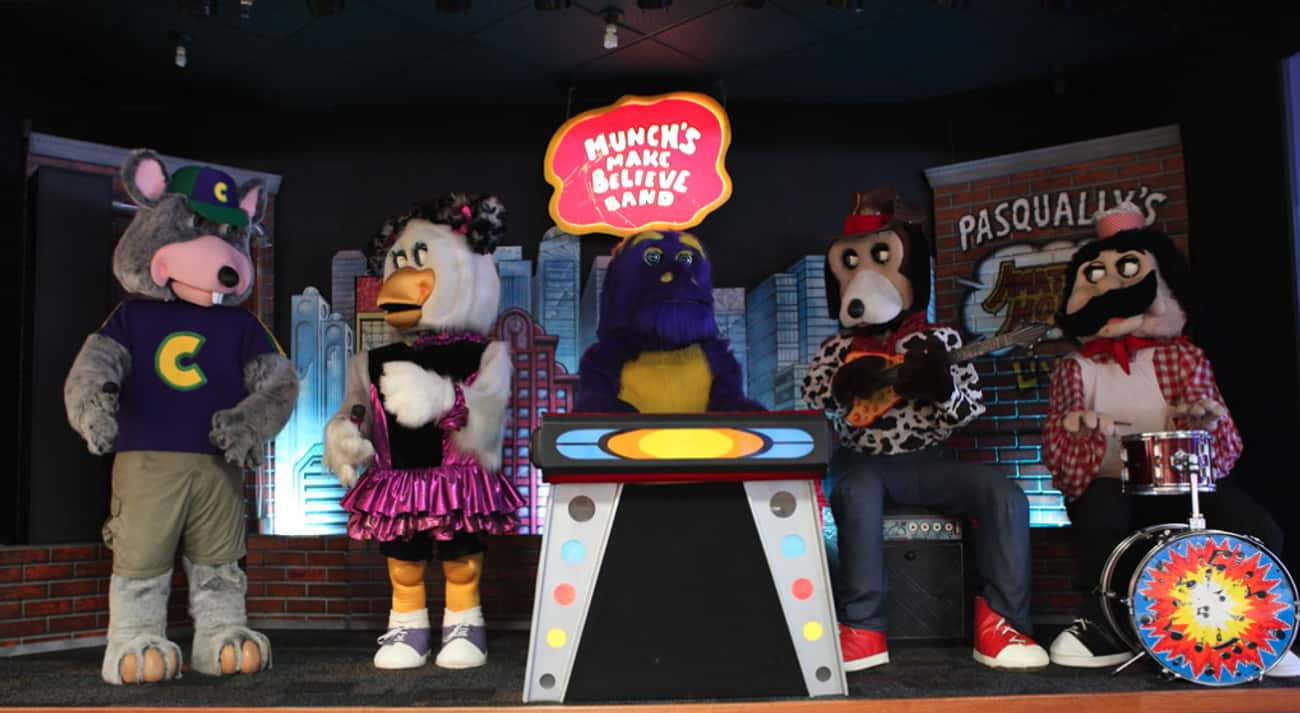 Munch's Make Believe Band is listed (or ranked) 2 on the list 13 Chuck E. Cheese Images Guaranteed To Give '80s Kids Flashbacks