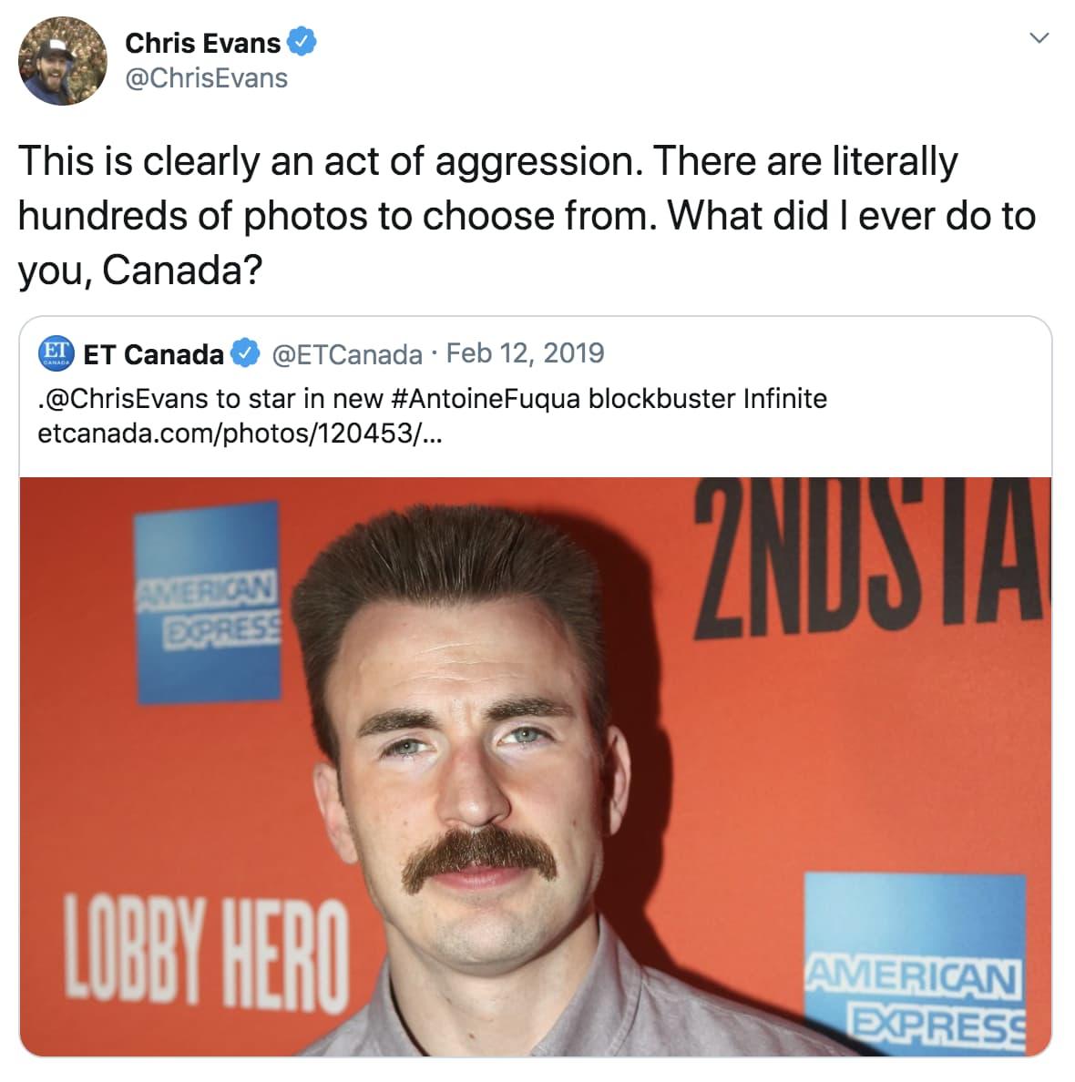 Random Funniest Things Chris Evans Ever Tweeted