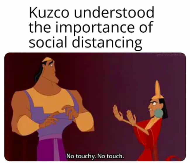 Maintain Social Distance... is listed (or ranked) 2 on the list 27 Funny Disney Animated Movie Memes That Make Us Appreciate The Classics Even More