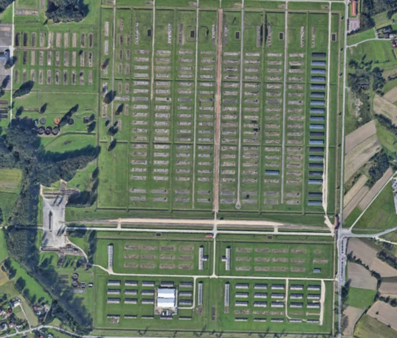 Auschwitz-Birkenau is listed (or ranked) 3 on the list Google Earth Satellite Pics Of Exact Spots Where Historical Events Happened
