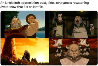 Iroh Appreciation Post is listed (or ranked) 2 on the list 29 Avatar The Last Airbender Memes For Fans Binging The Entire Series Now That It's On Netflix