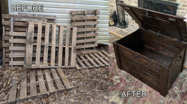 Pallets To Polished Chest is listed (or ranked) 1 on the list 23 Before And After Photos Of DIY Projects That Gave Old, Ugly Things And New Life
