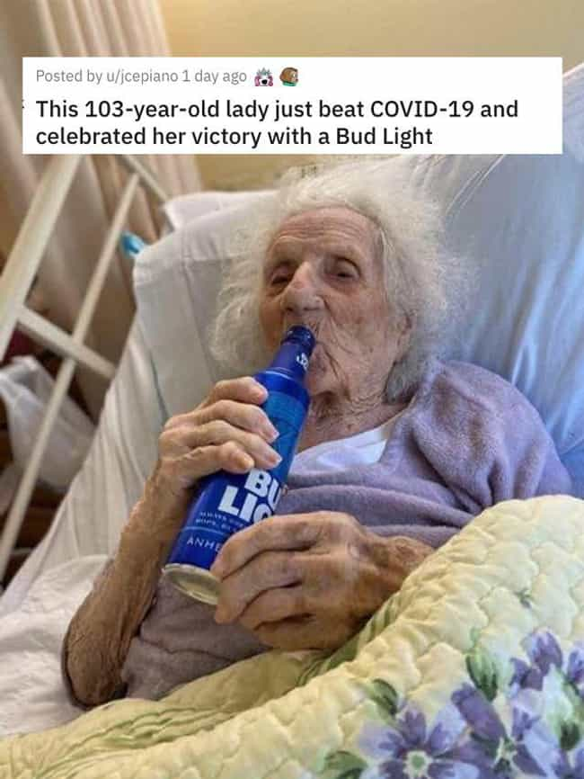 With A Bud Light is listed (or ranked) 1 on the list 38 Viral Pictures That Made Gave Us Much Needed Positivity This Past Week