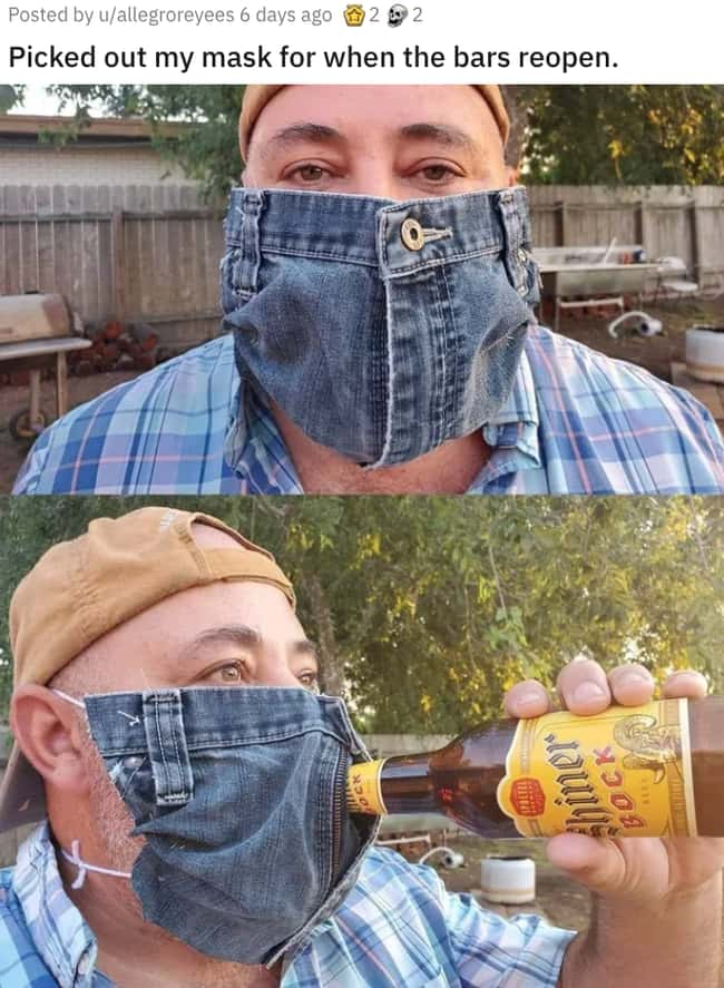 Denim Mask is listed (or ranked) 30 on the list 38 Viral Pictures That Made Gave Us Much Needed Positivity This Past Week