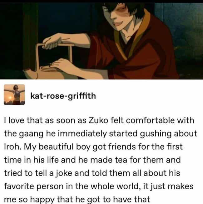Zuko Serving Tea is listed (or ranked) 3 on the list 31 Small But Poignant Details Fans Of 'The Last Airbender' Noticed About The Series