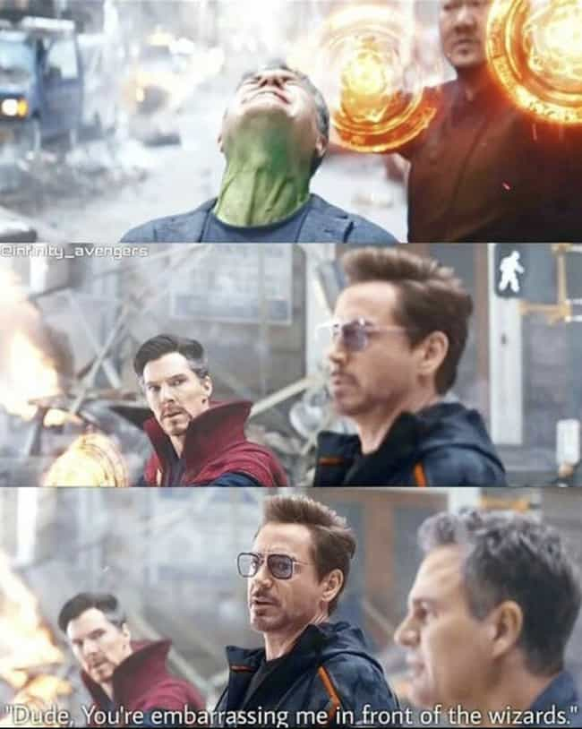 Get Yourself Together Ba... is listed (or ranked) 4 on the list 21 Tony Stark Comebacks That Hit Harder Than A Thanos Snap