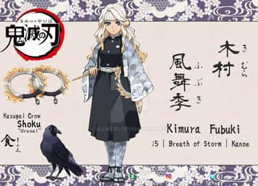 Kimura Fubuki is listed (or ranked) 1 on the list 21 Fan Made Demon Slayer Characters We Wish Were Real