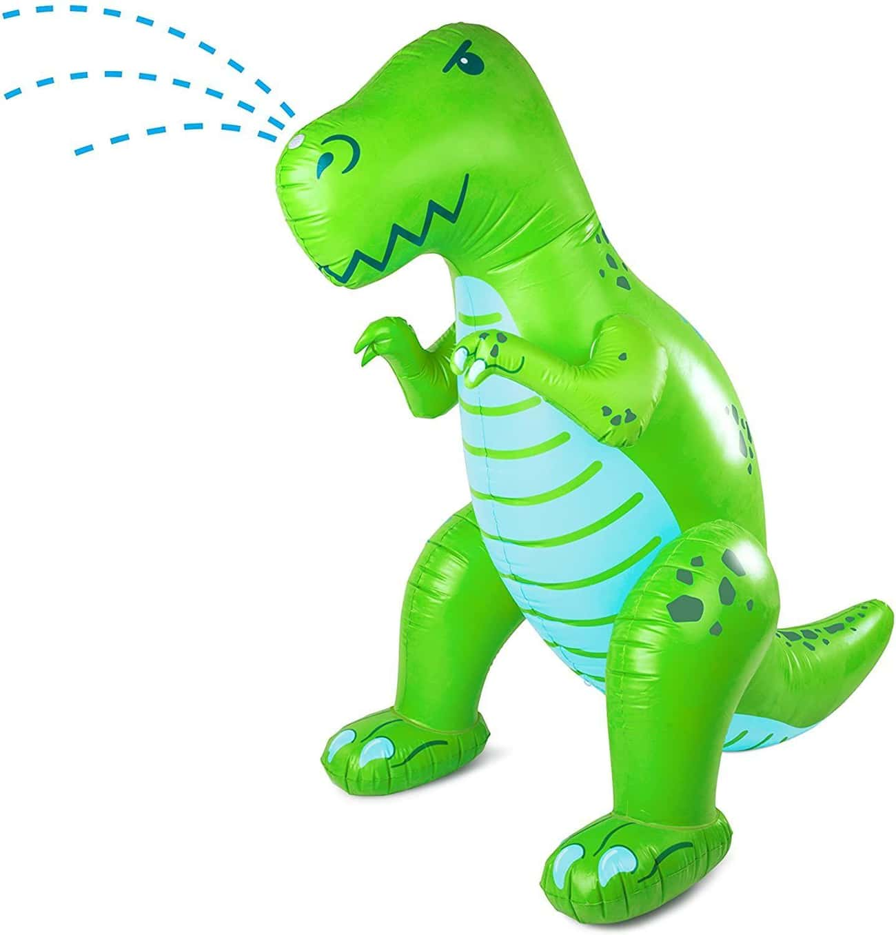 Ginormous Inflatable Dinosaur  is listed (or ranked) 1 on the list 13 Backyard Water Toys That Are Sure To Keep The Kiddos Busy (For A Few Mins, At Least)