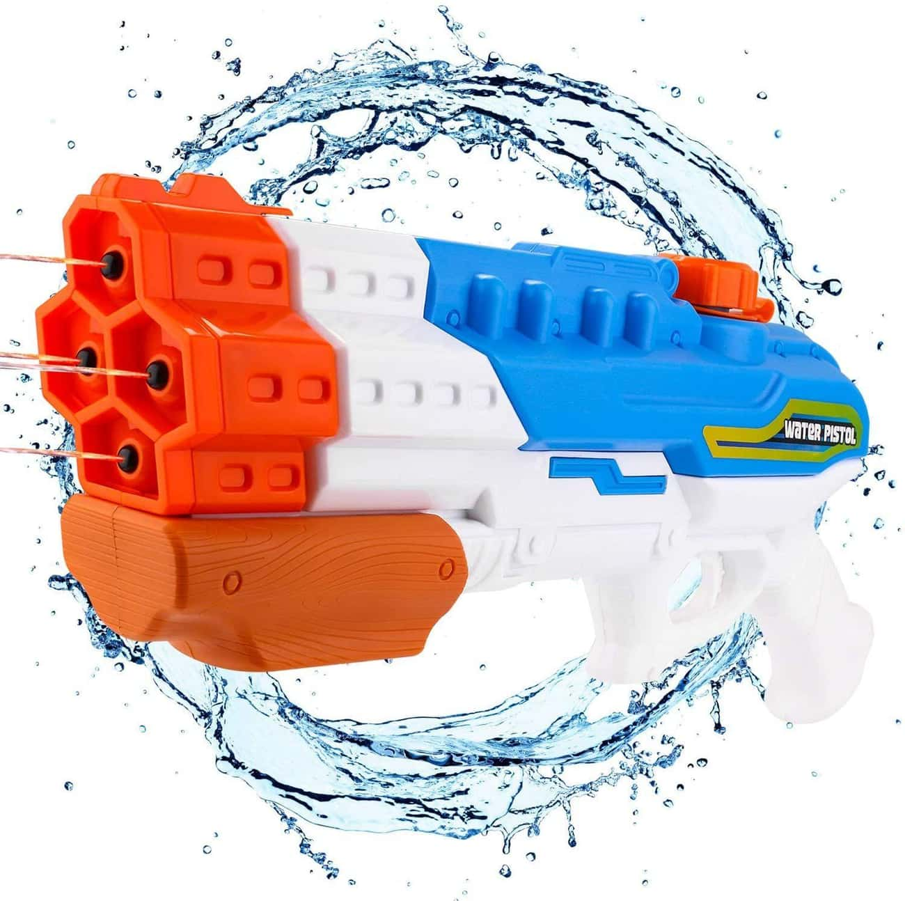 Super Powerful Water Gun Blast is listed (or ranked) 4 on the list 13 Backyard Water Toys That Are Sure To Keep The Kiddos Busy (For A Few Mins, At Least)
