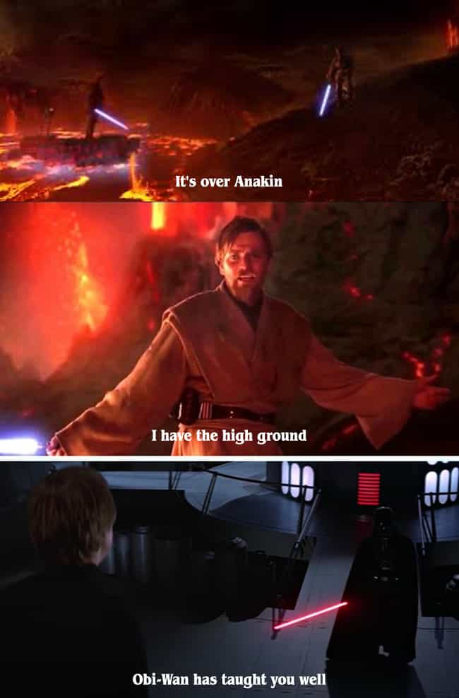 High Ground is listed (or ranked) 2 on the list 19 Small But Poignant Details 'Star Wars' Fans Shared About The Movies