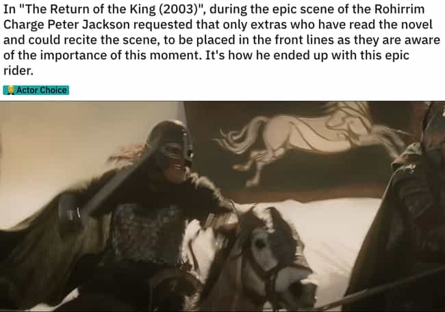 This Guy Gets It is listed (or ranked) 2 on the list 21 Small But Poignant Details 'Lord of the Rings' Fans Noticed About The Trilogy